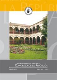 Portada del Informe de la Junta Directiva al Congreso de la República desde 2008